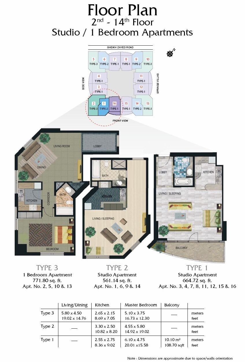 Madison Residency Floor Plans Tecom Dubai