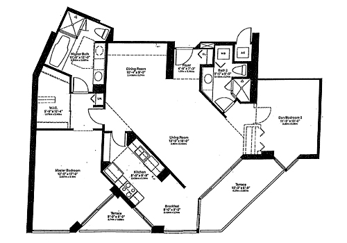1000 island boulevard floor plans miami florida for 1000 venetian way floor plans