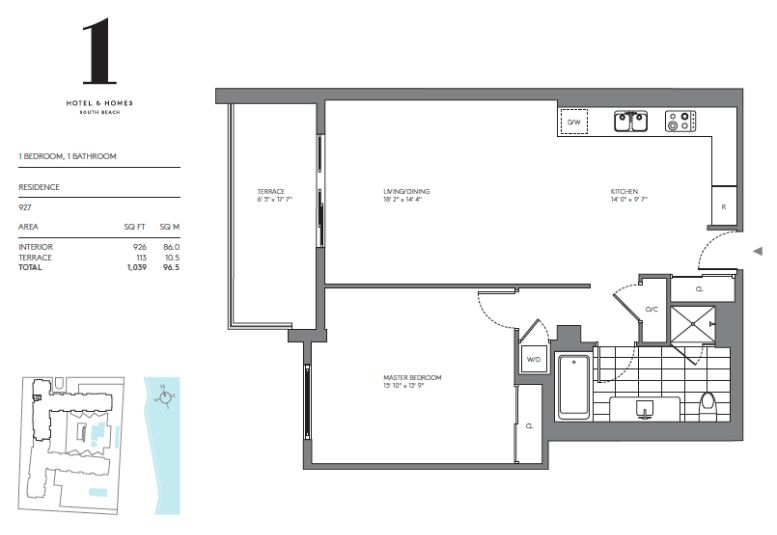 One Hotels Amp Homes Floor Plans Miami Beach Florida