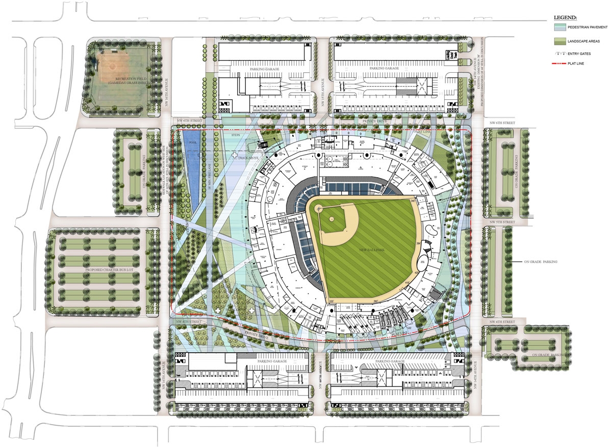 Room Blueprints Marlins Park Stadium Plan Miami Florida