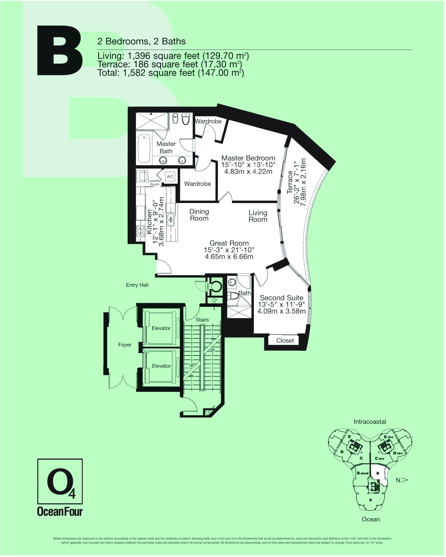 Ocean 4 floor plans miami florida for 4 unit condo plans