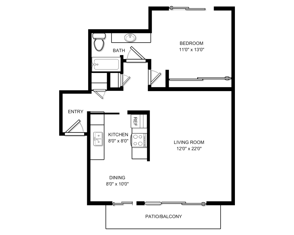 Brich creek apartment floor plans mountain view california for Mountain view floor plans