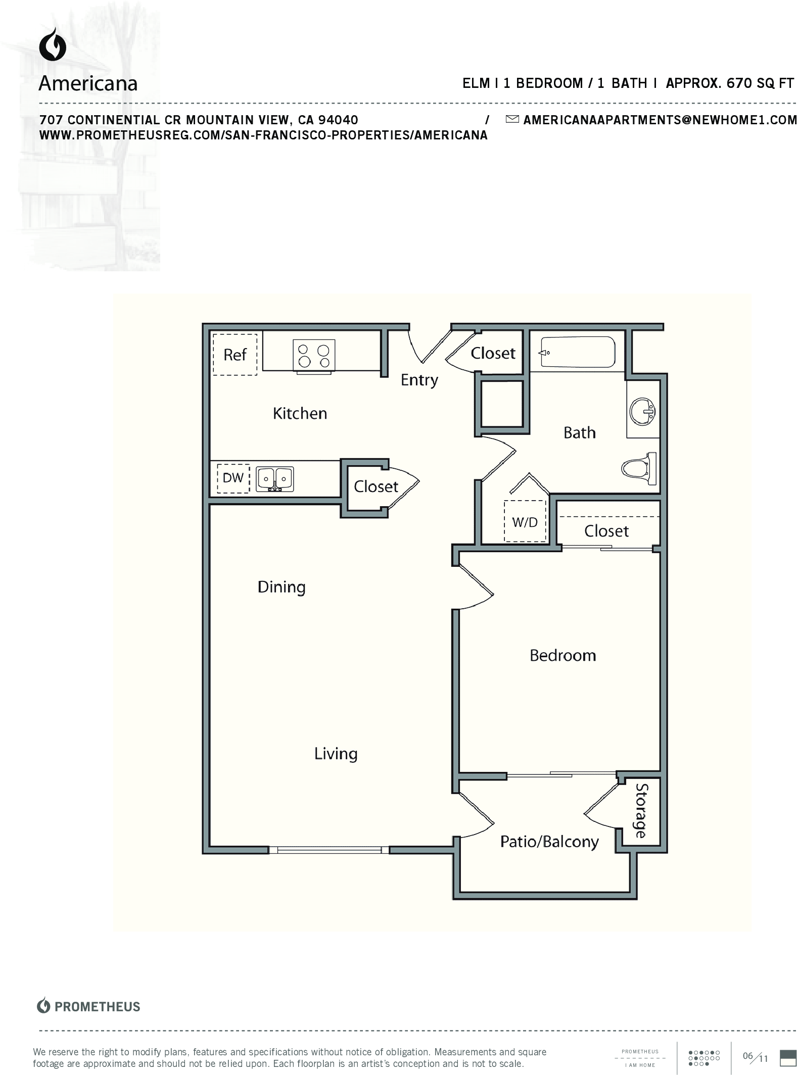 Americana apartments floor plans mountain view california for Mountain view floor plans