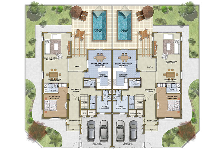Mudon Townhouse Floor Plans Mudon Dubai