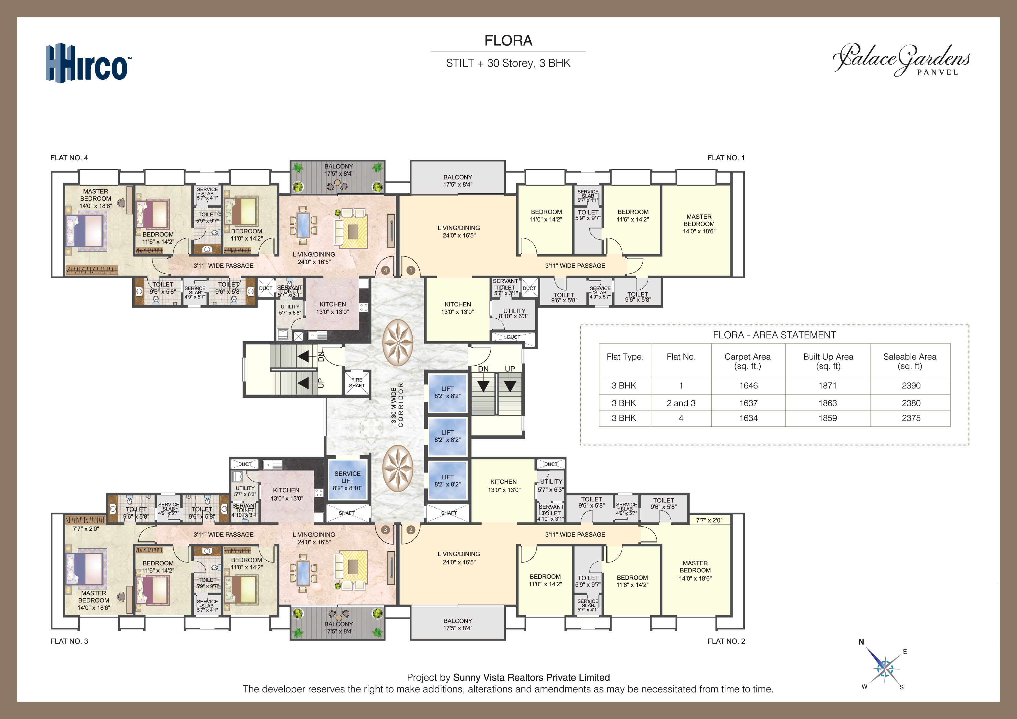 hirco palace gardens floor plans   panvel   mumbai india