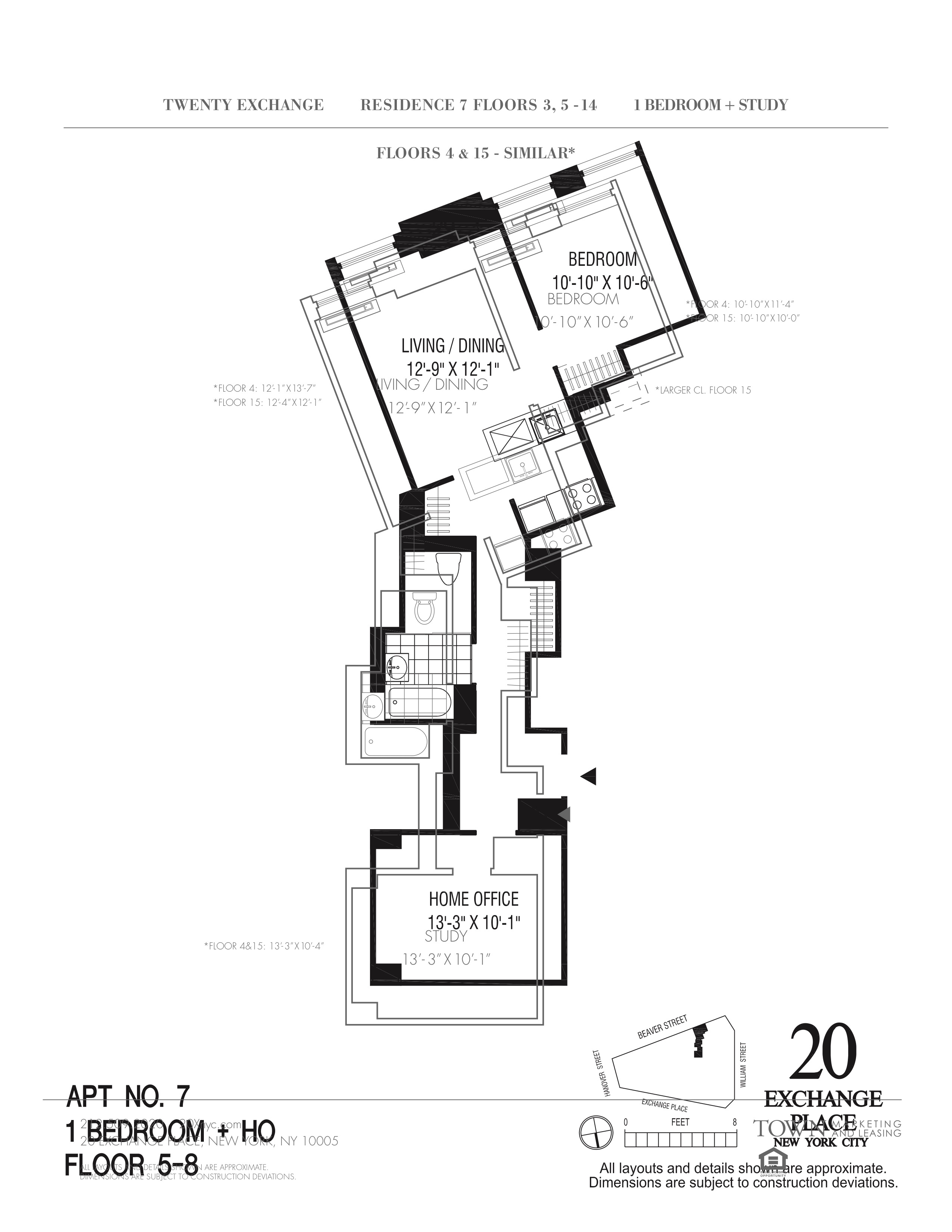 20 exchange place floor plans new york city for 15 dunham place floor plans