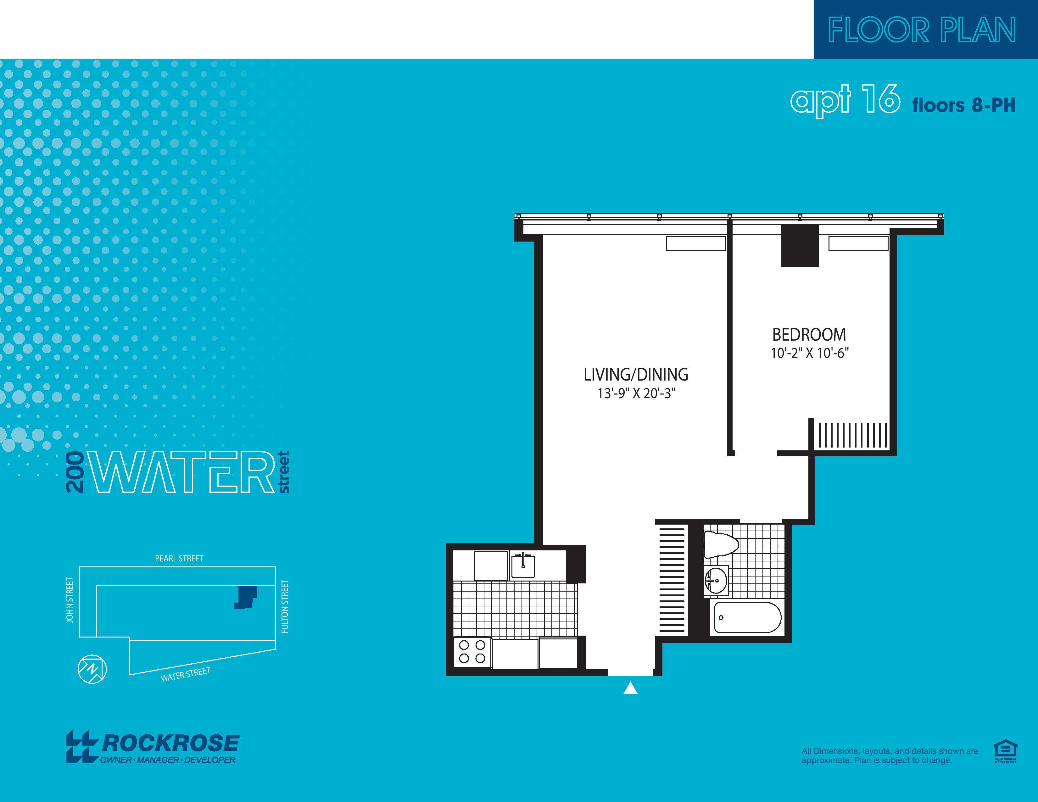 200 Water Street Apartment Floor Plans - New York NY
