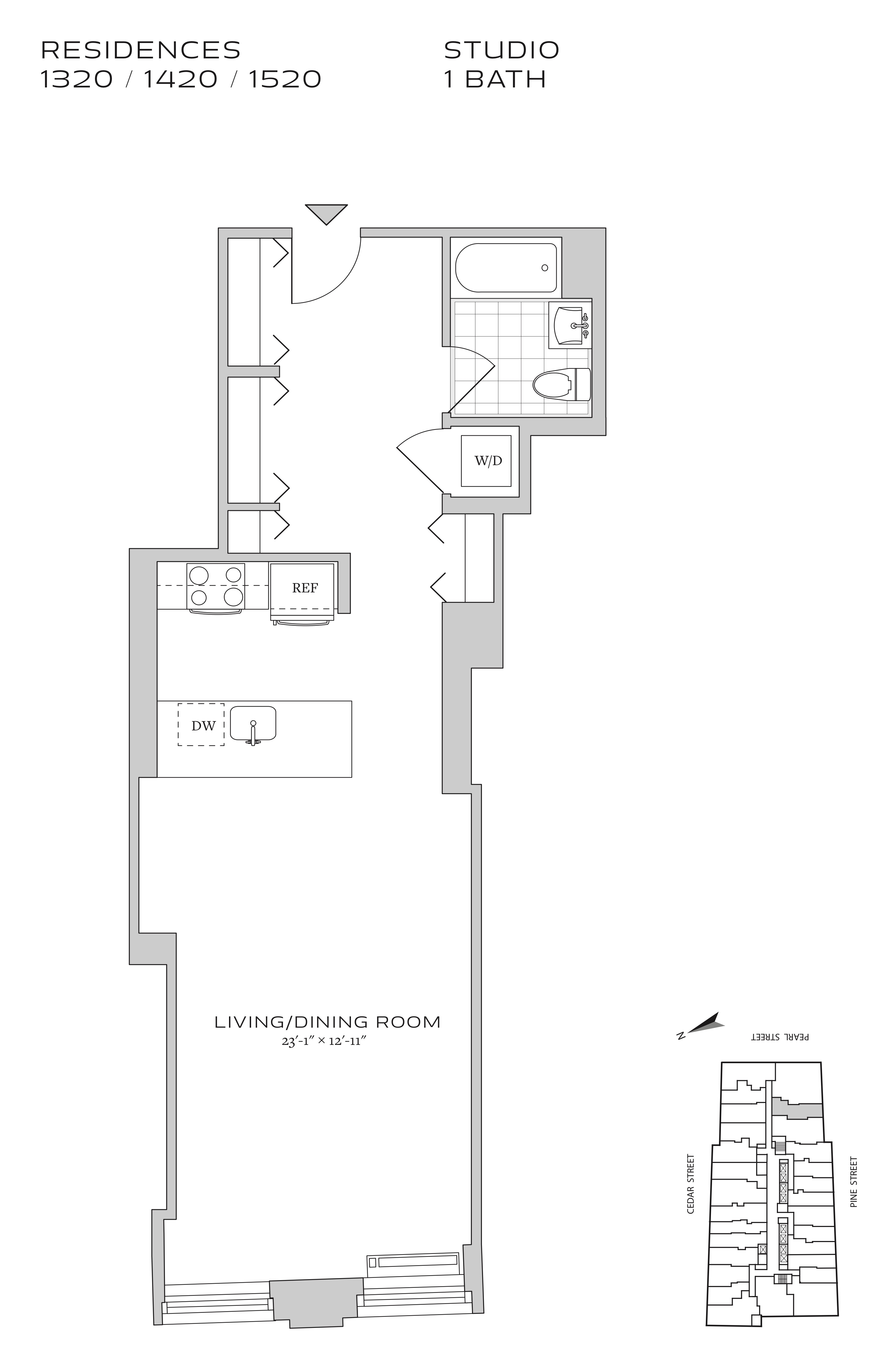 70 pine apartment floor plans new york ny for Apartment floor plans nyc