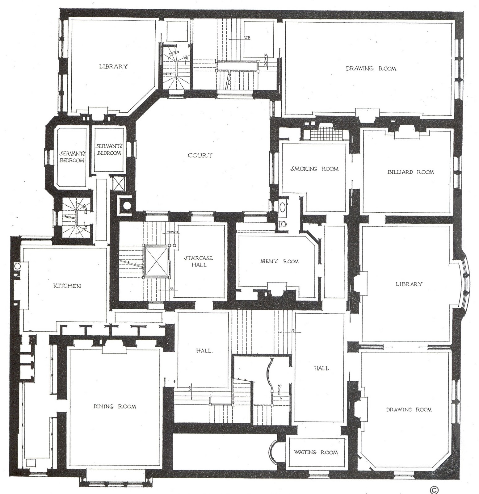 Charles Tiffany New York Residence Ground Floor Plan