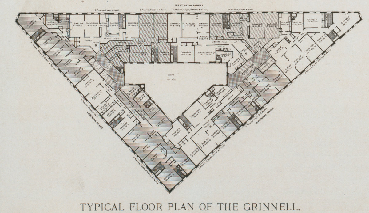 The Grinnell Floor Plan - Typical Floor