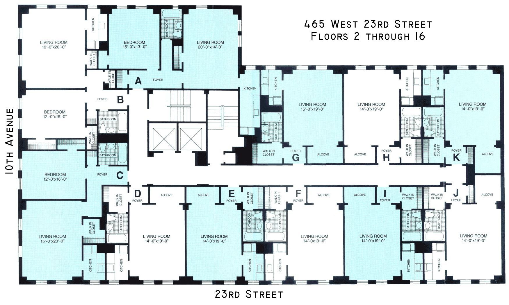 london terrace towers floorplans new york usa