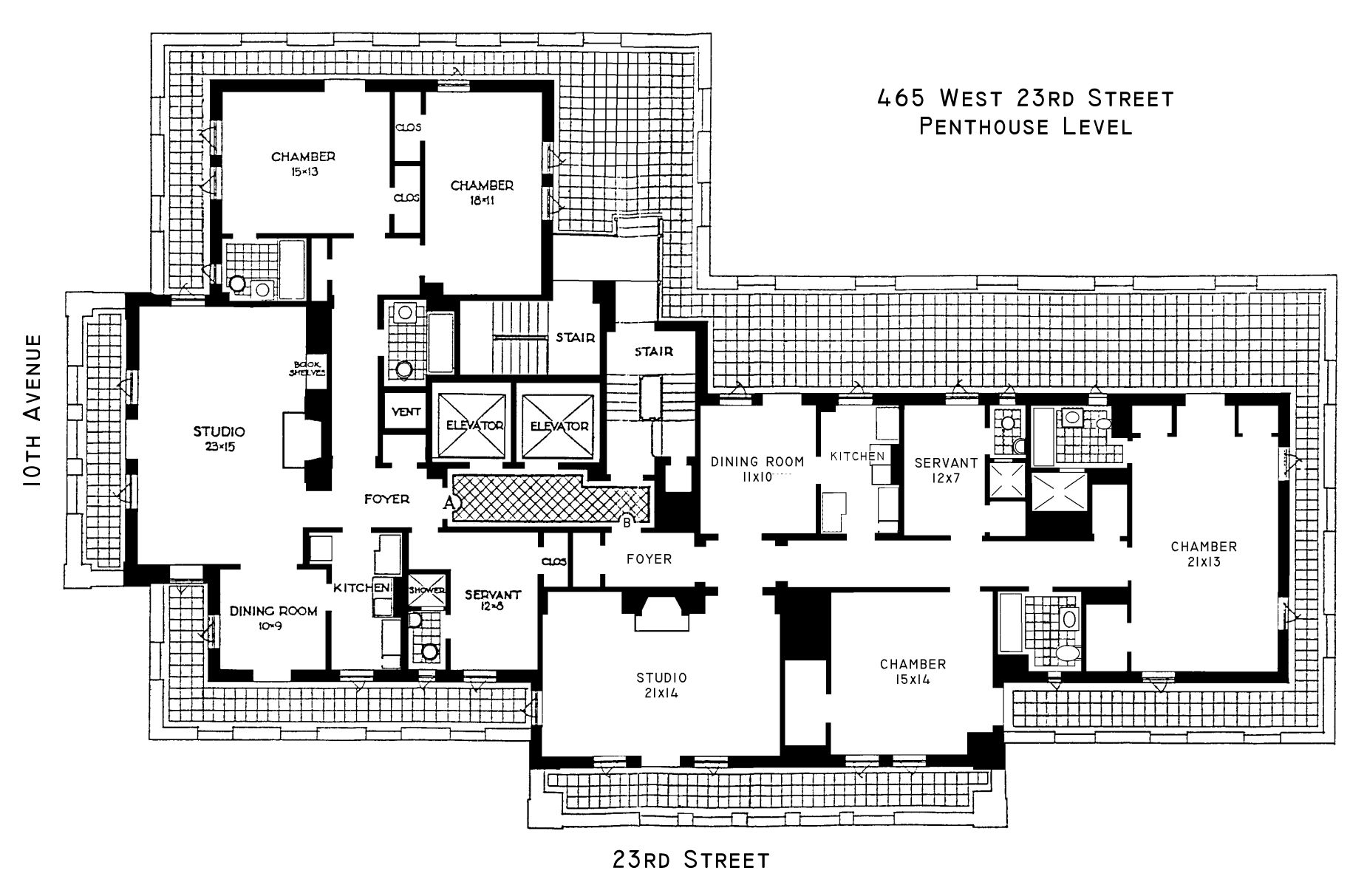 London terrace towers floorplans new york usa for Apartment floor plans new york