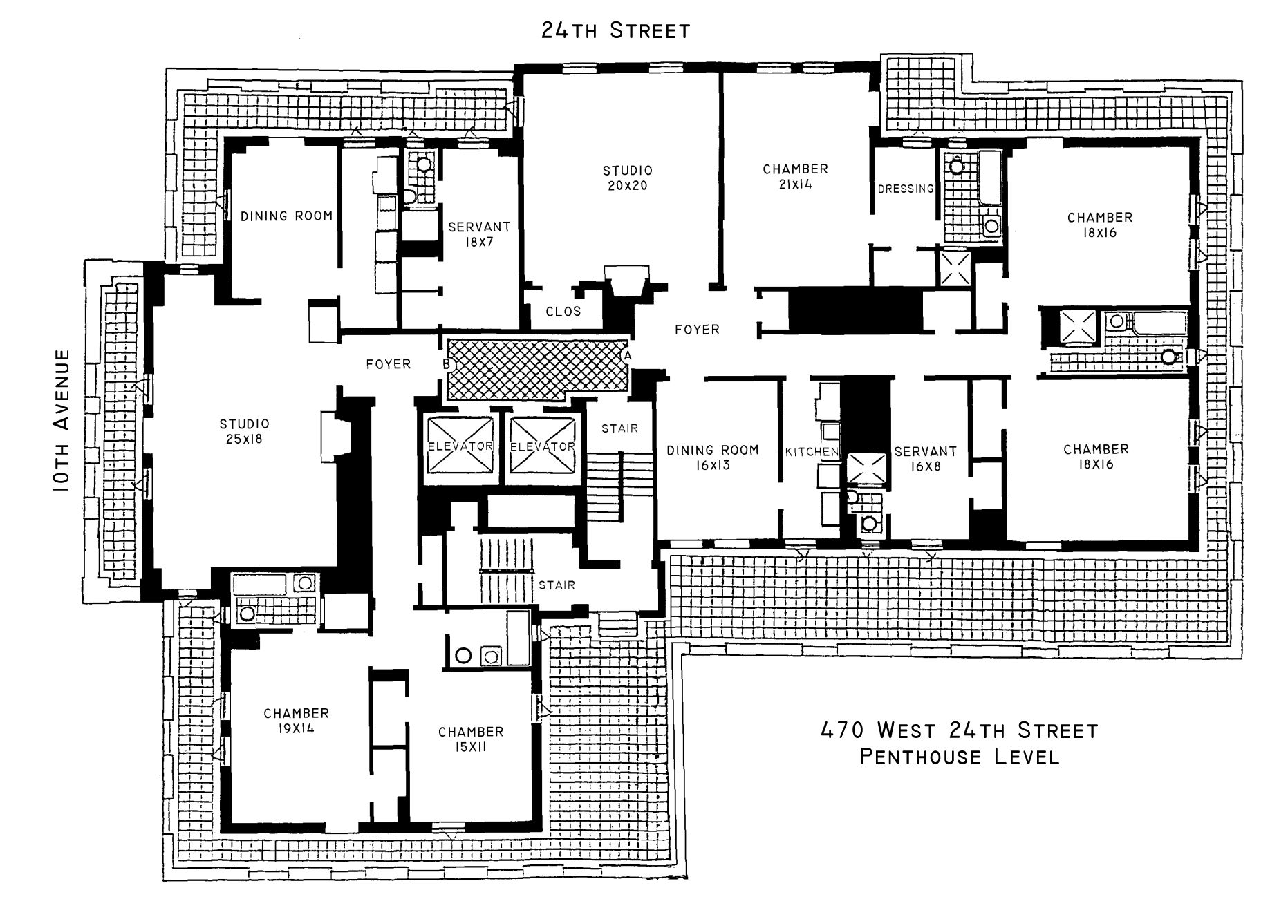 London terrace towers floorplans new york usa for Apartment floor plans nyc