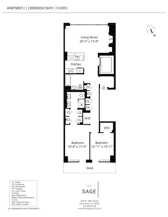 The sage apartments floor plans new york city for Apartment floor plans new york city