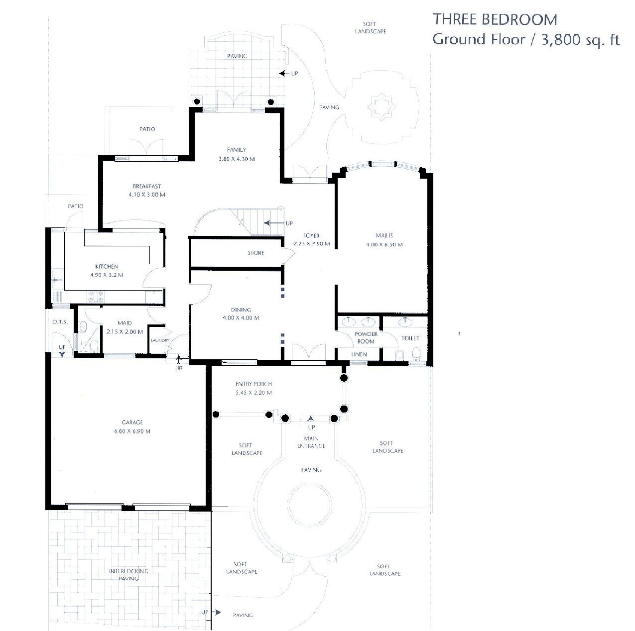 Canal cove floor plans palm jumeirah dubai for 3 bedroom townhouse plans
