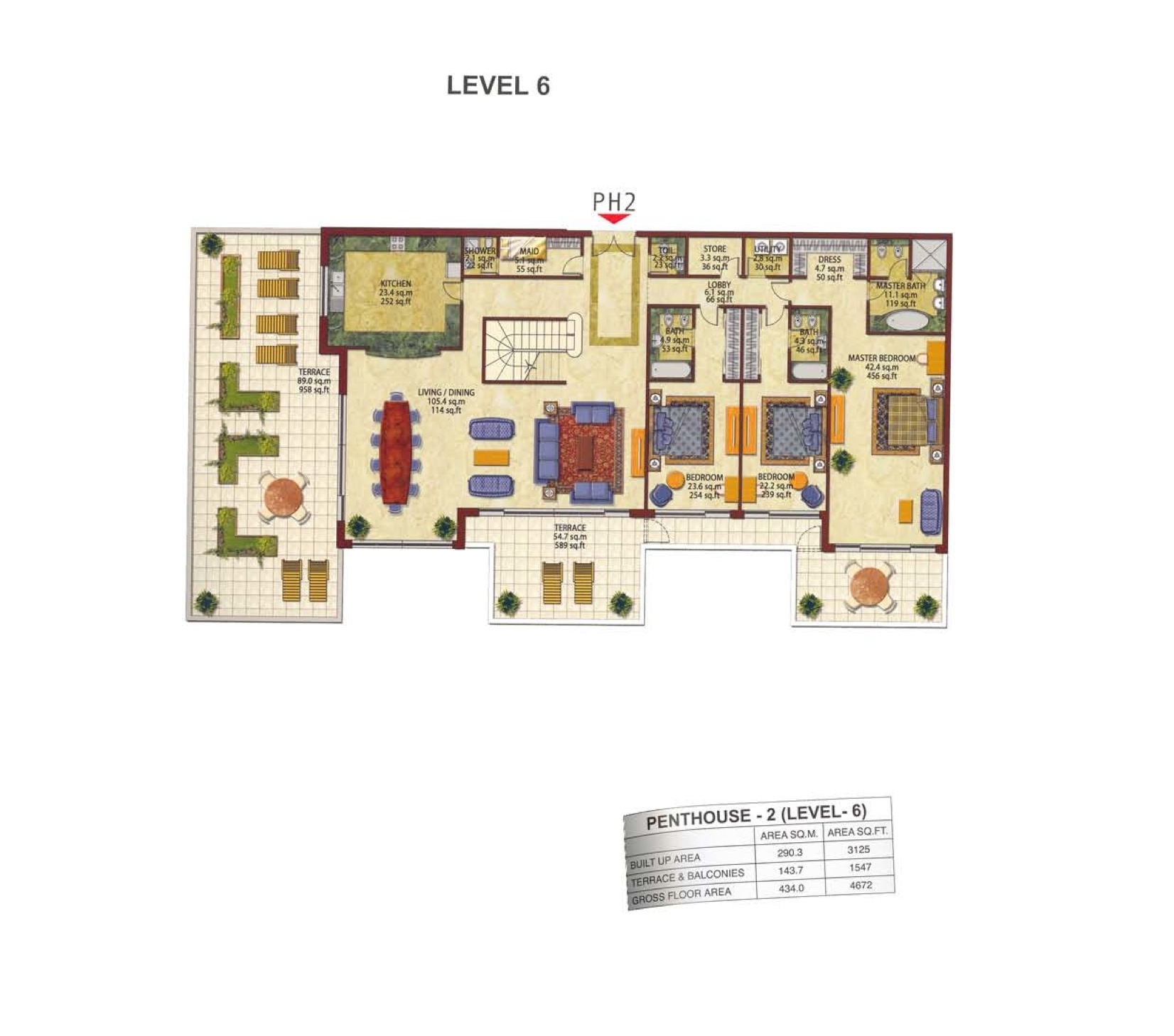 Kempinski residences floor plans palm jumeirah dubai for Floor plans jumeirah heights