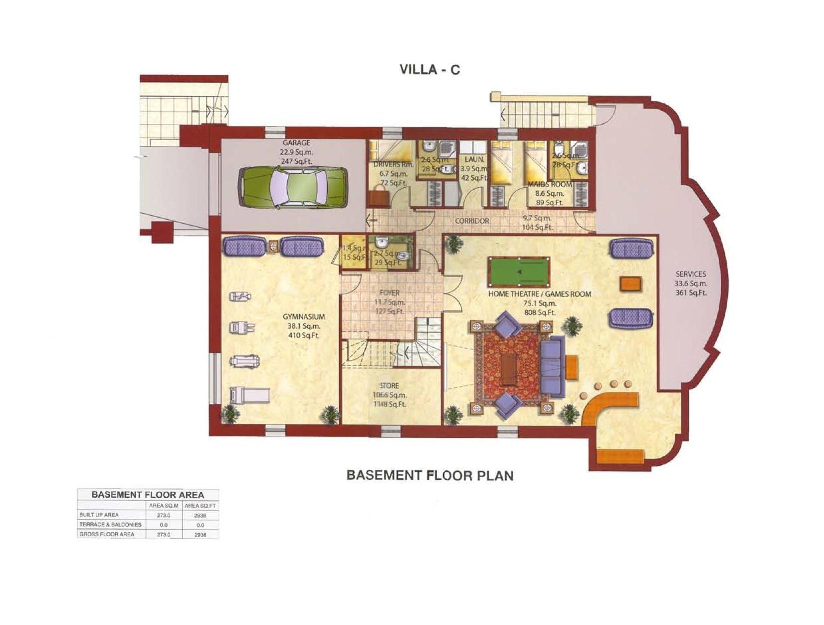 Kempinski residences villa floor plans palm jumeirah dubai for Floor plans jumeirah heights