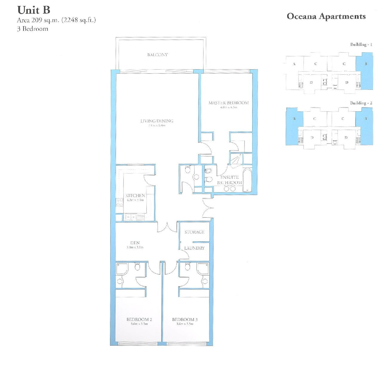 Oceana floor plans palm jumeirah dubai uae for 3 bedroom unit floor plans