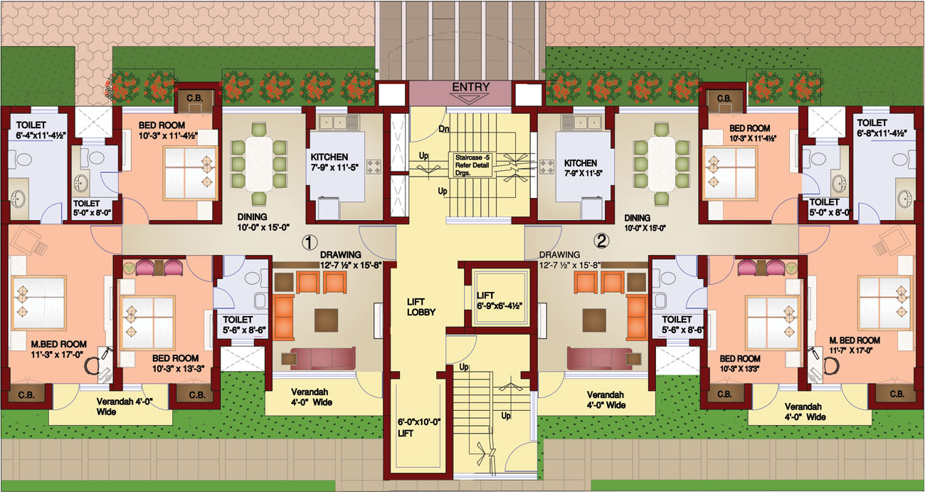 Paramount floor plans by parsvnath delhi india for Apartment plans in india