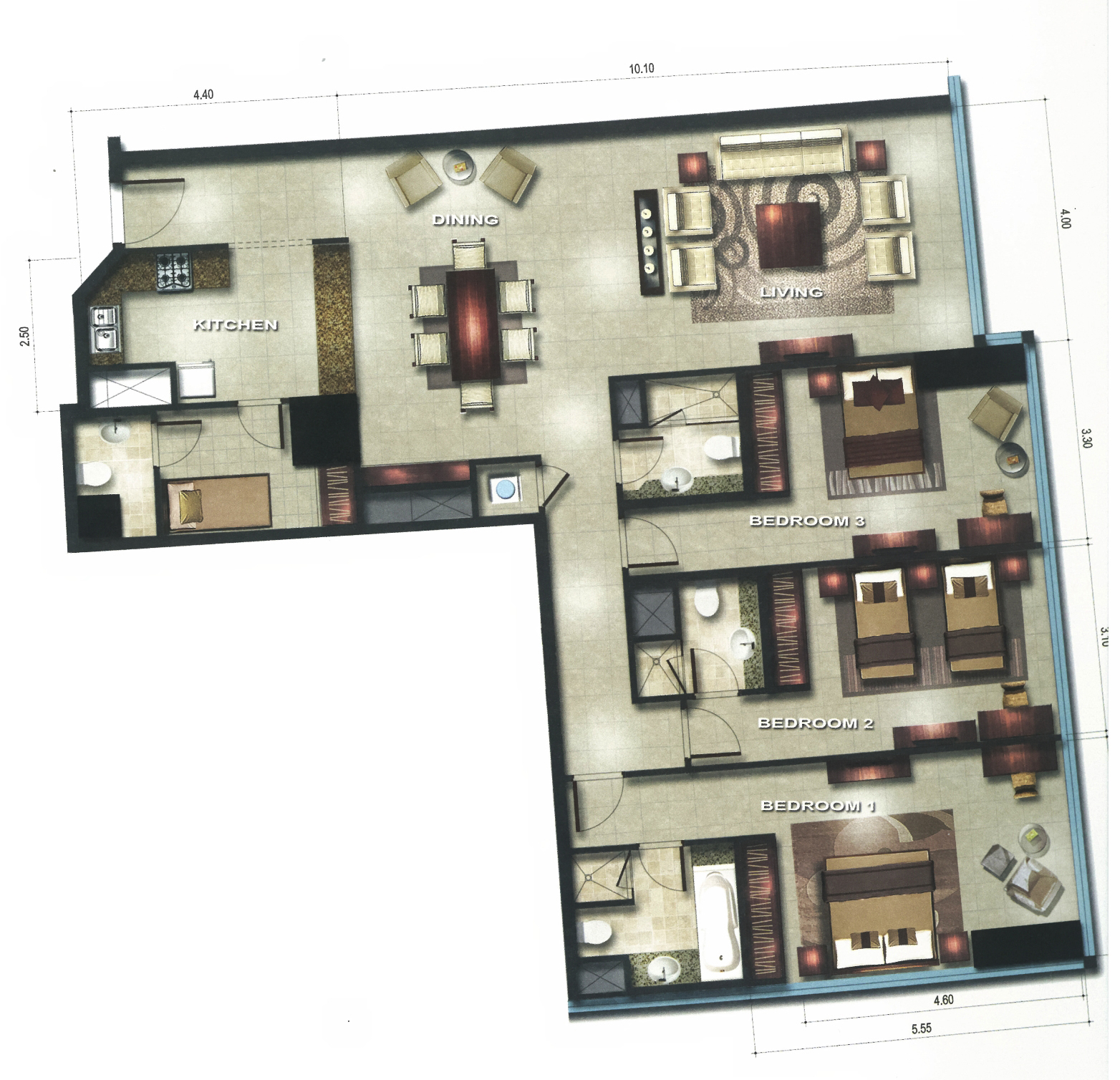 Gate Tower Floor Plan Gate Tower 3 Floor Plans Reem Island Abu Dhabi