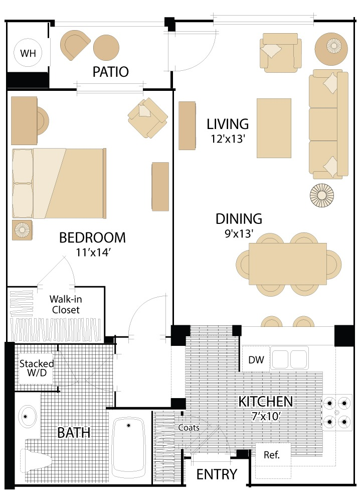 North Park Apartments Floor Plans San Jose California