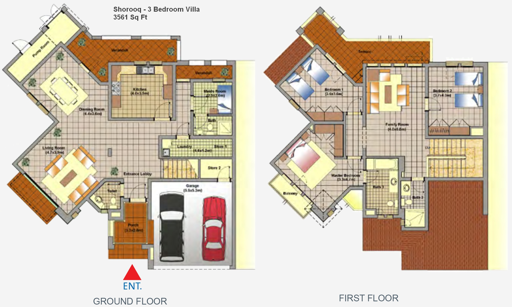 Shorooq biography for 4 bedroom villa plans