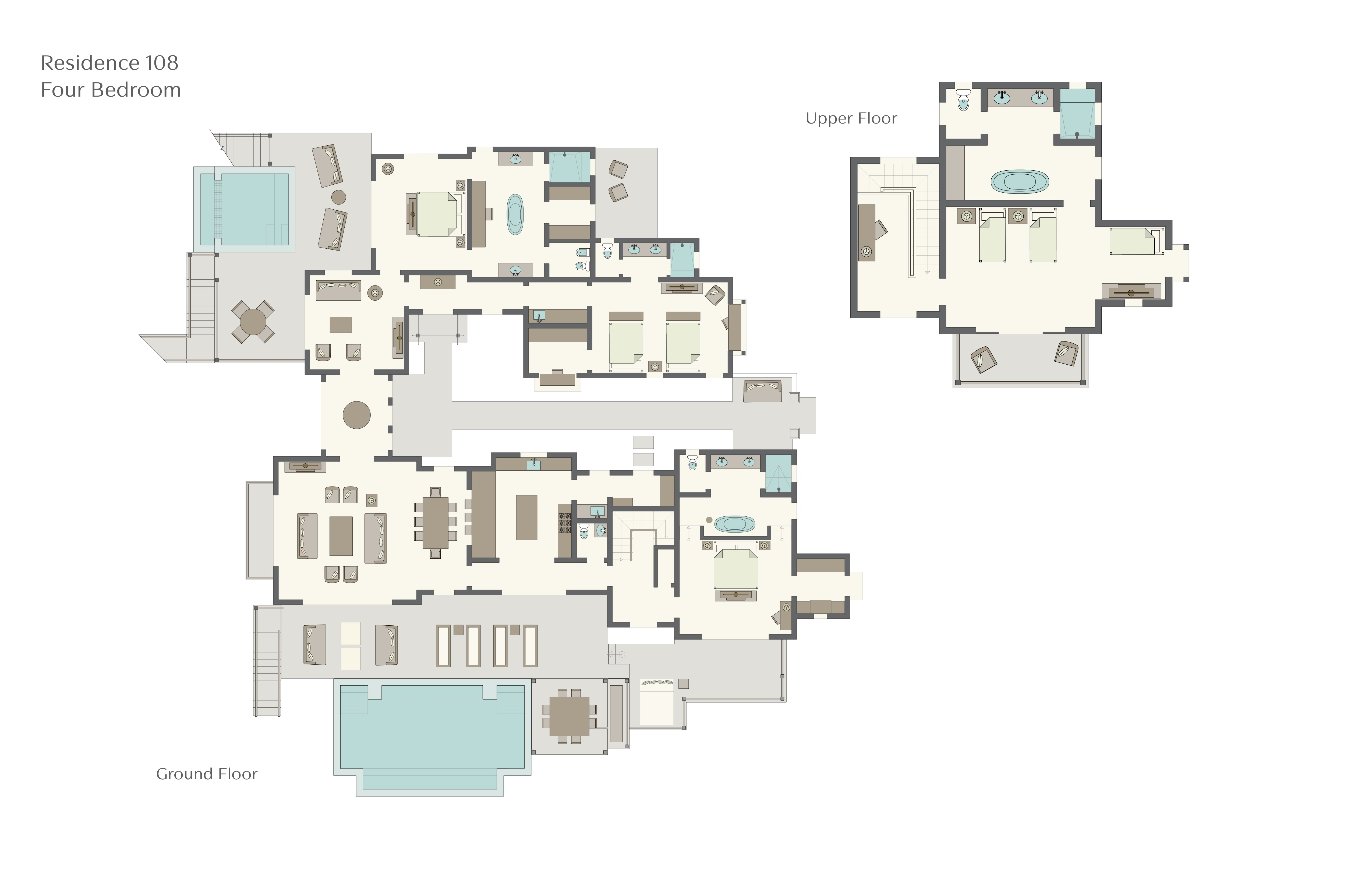 Sugarbeach resort floor plans st lucia for Viceroy floor plans