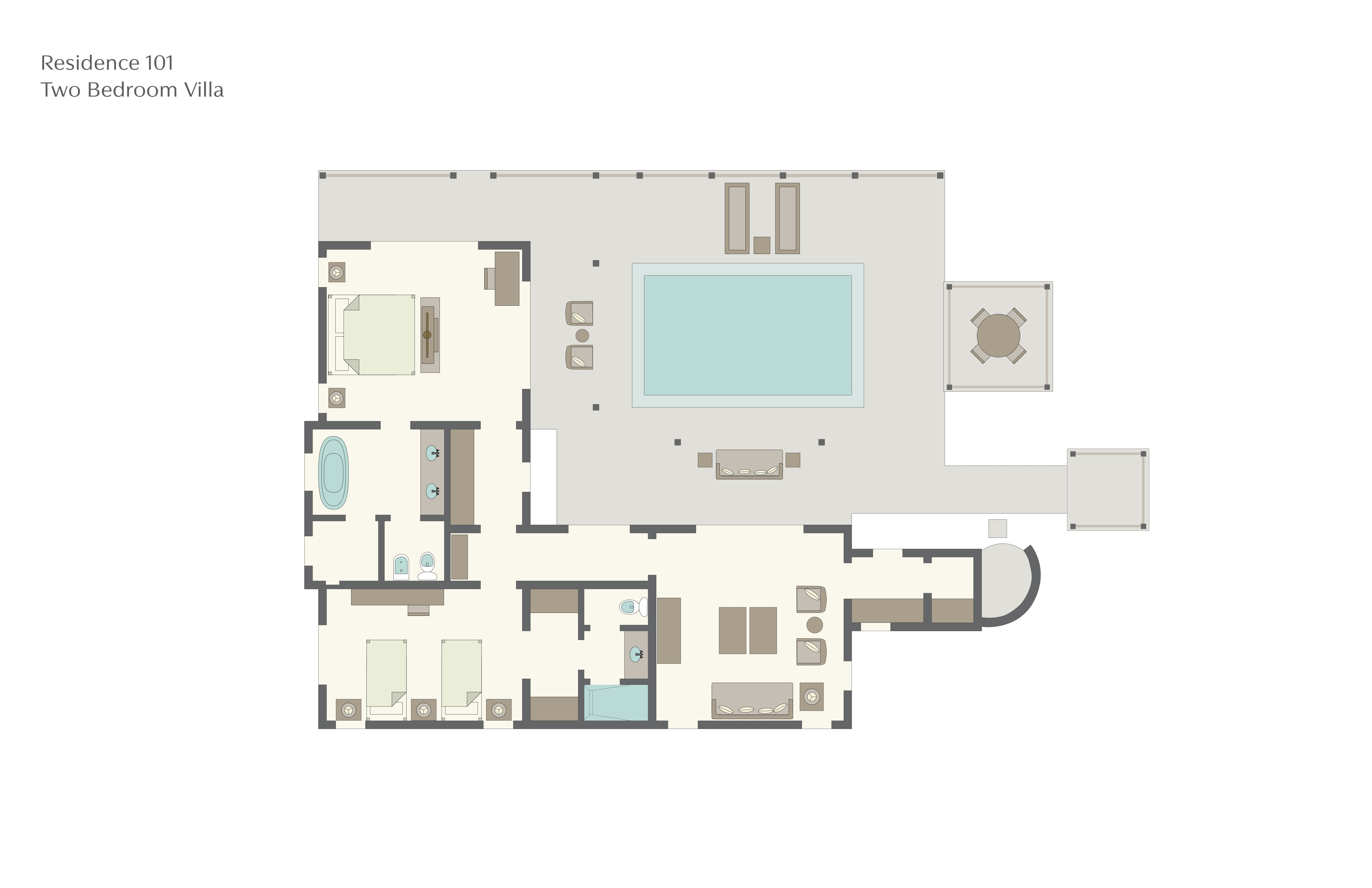 Sugarbeach resort floor plans st lucia for Viceroy homes floor plans