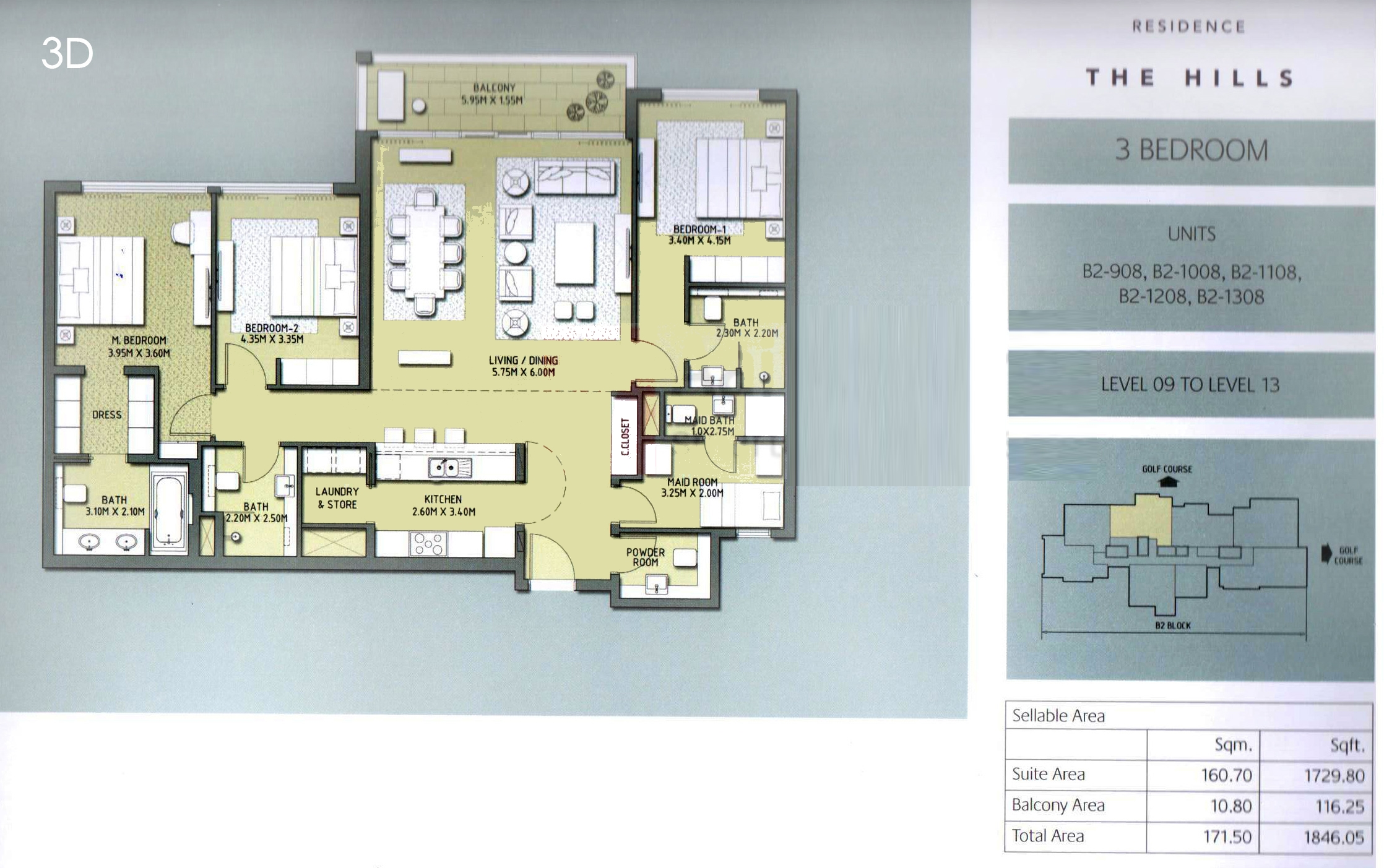 Vida residence floor plans the hills dubai for The world deck plans