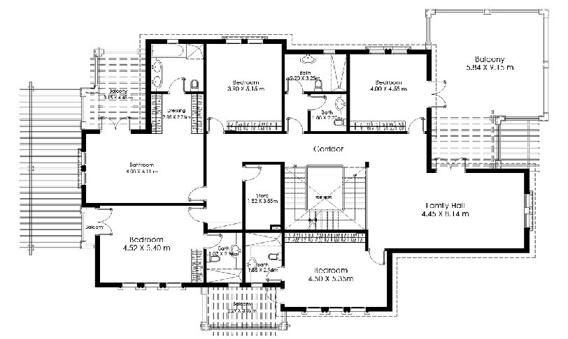 The villa floor plans dubai for Plan villa r 2