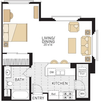 The village at spectrum center floor plans irvine for Studio type house design