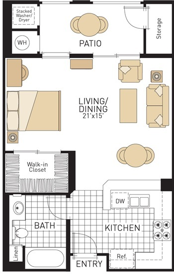 The village at spectrum center floor plans irvine california - Planning the studio apartment floor plans ...