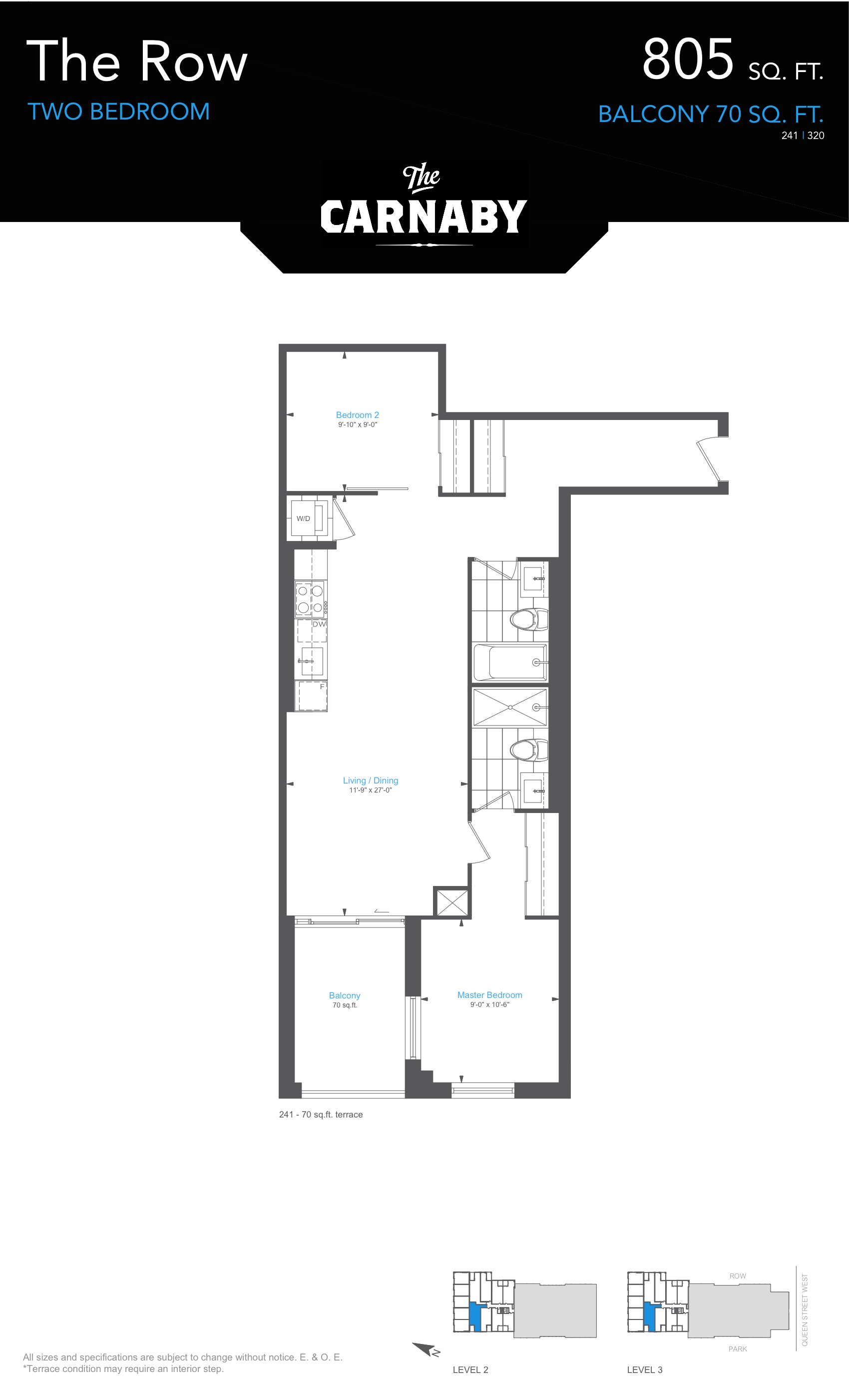 The Carnaby Floorplans - Toronto, Canada