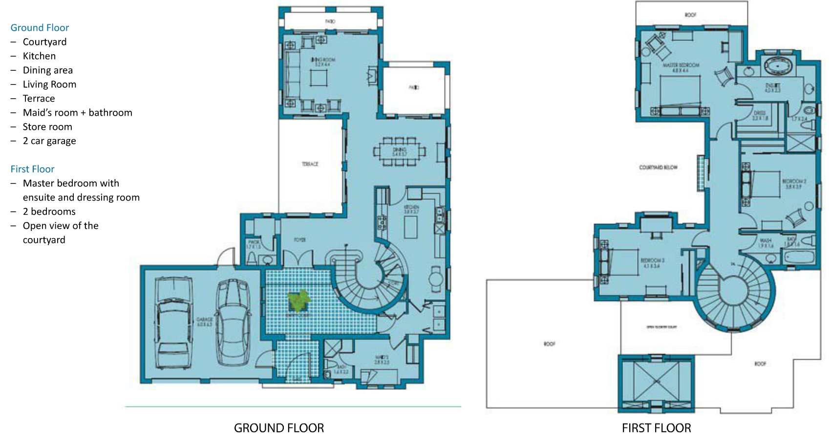 Mistral villa floor plans umm al quwain for Plan villa r 2