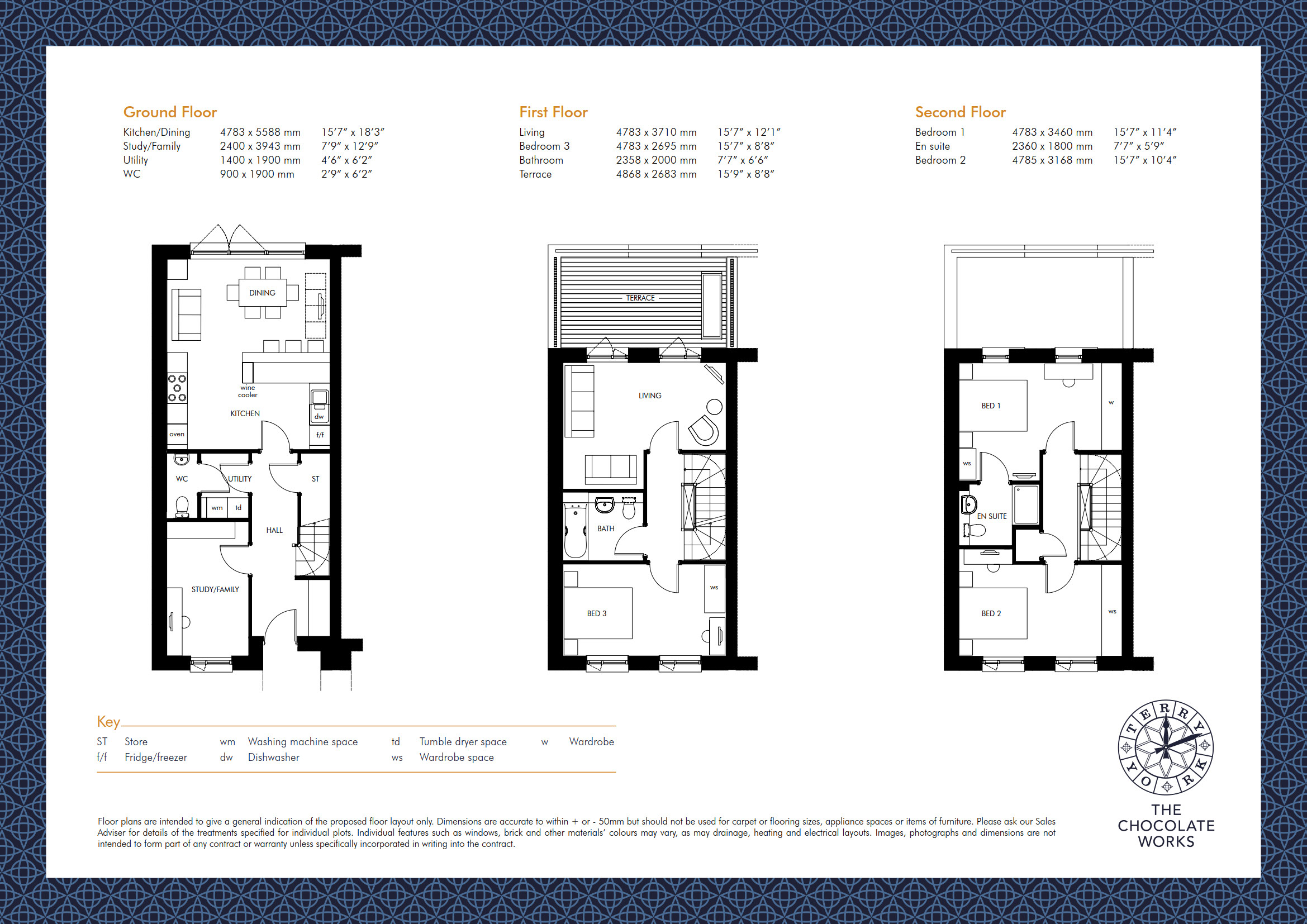 UK York The Chocolate Works Townhouse 05 on Townhouse Floor Plans