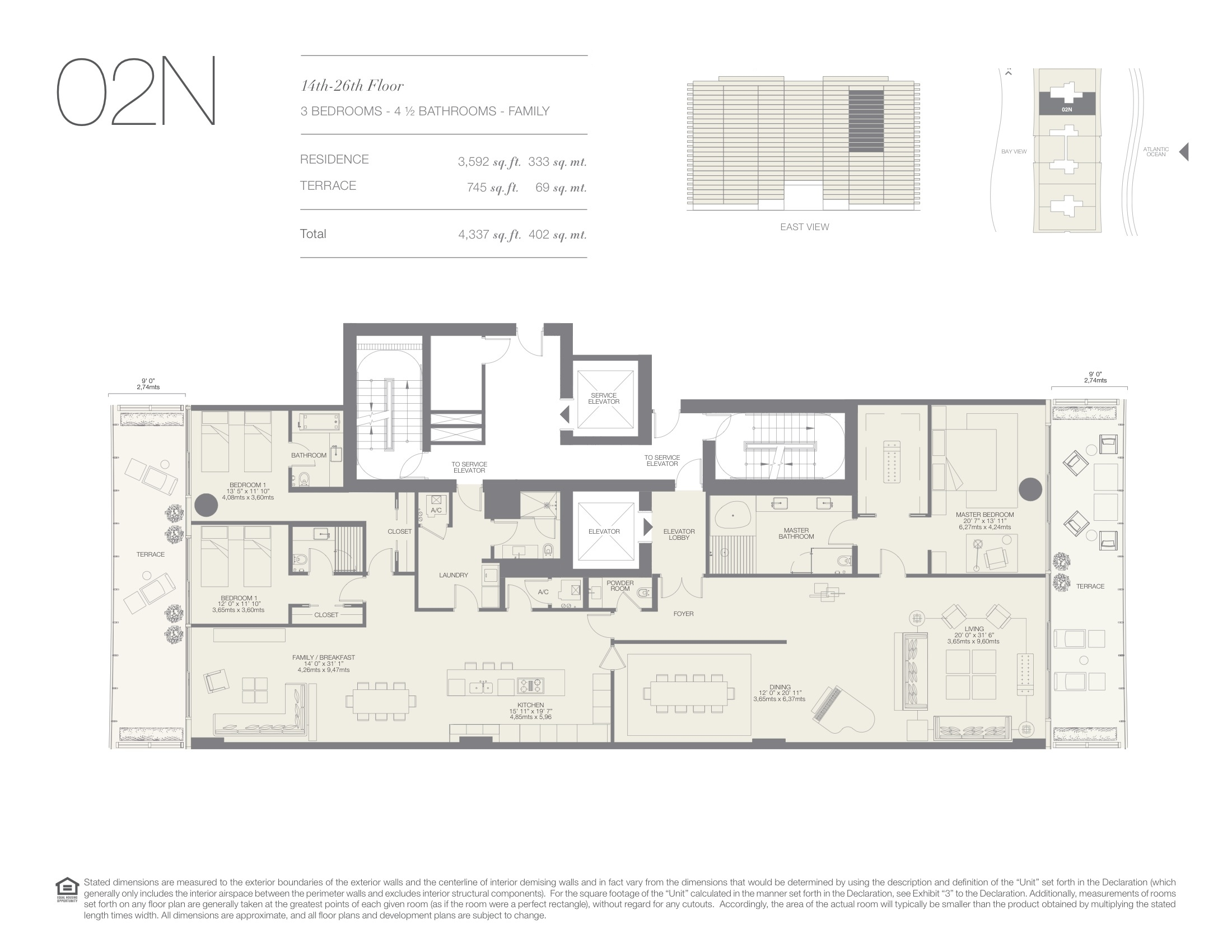 Oceana Bal Harbour Floorplans Miami Florida