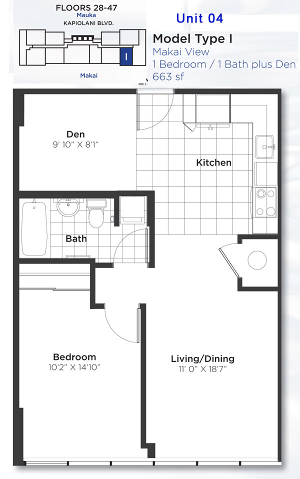 Pacifica floor plans honolulu hawaii for Floor plans com