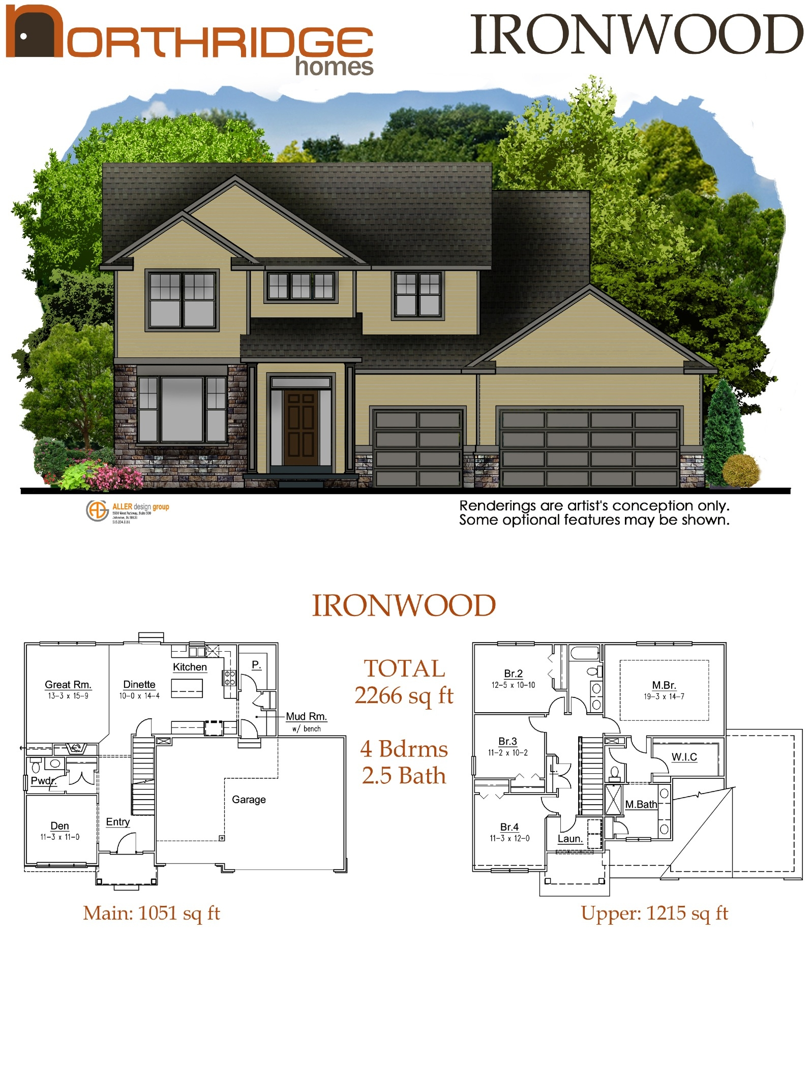 Northridge home floor plans des moines iowa for Design homes iowa
