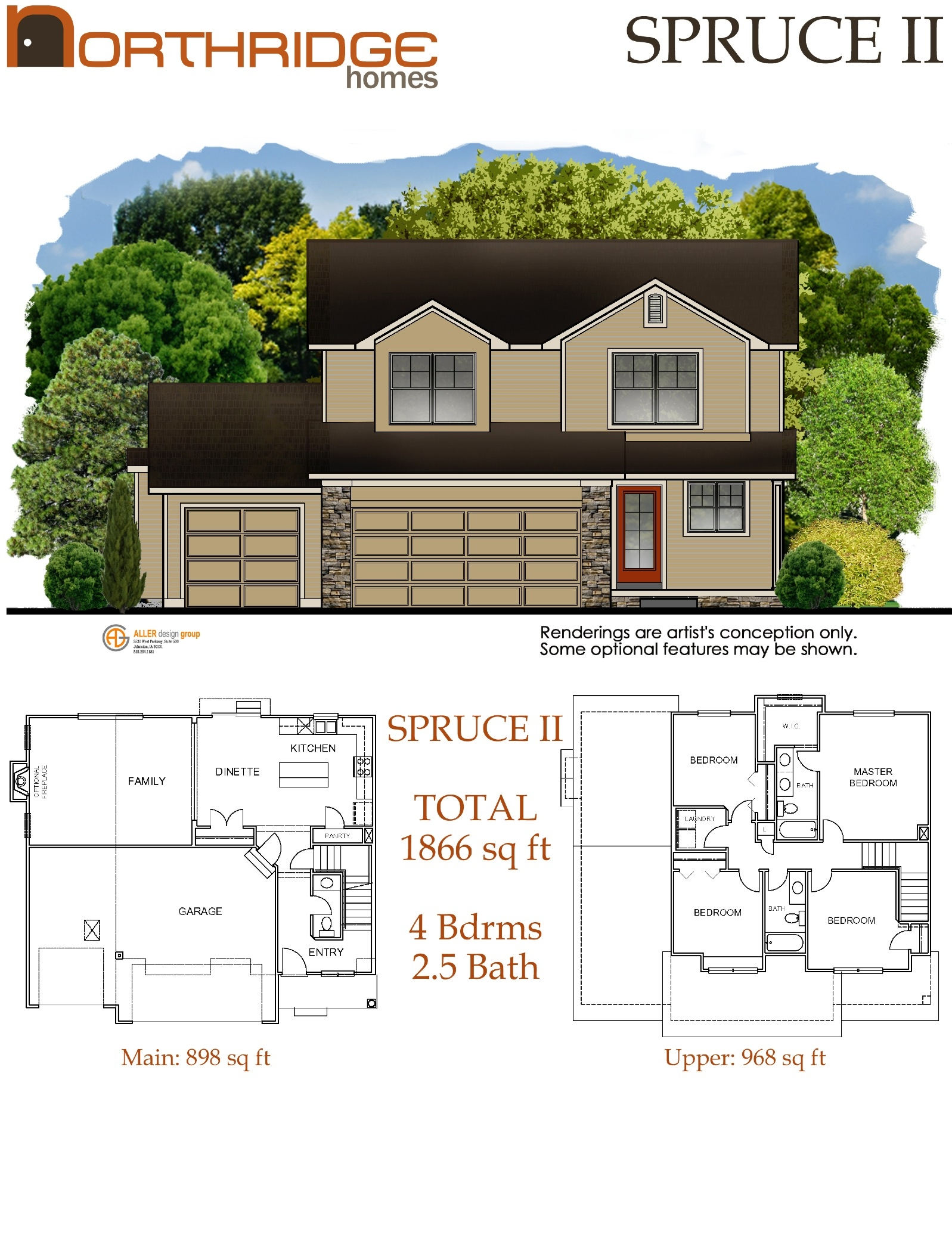 Northridge home floor plans des moines iowa for Iowa home builders floor plans