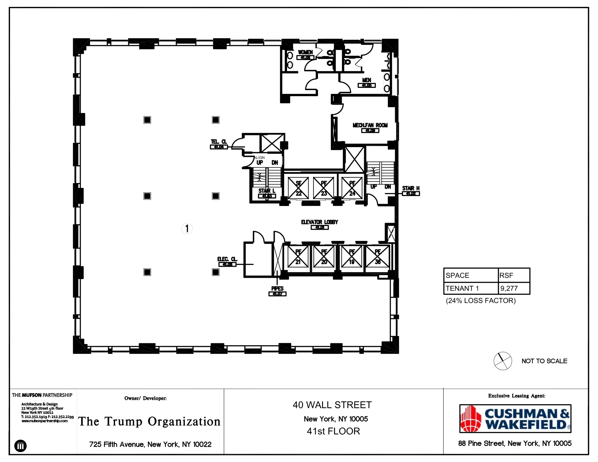 40 Wall Street Trump Tower Floorplans - New York City