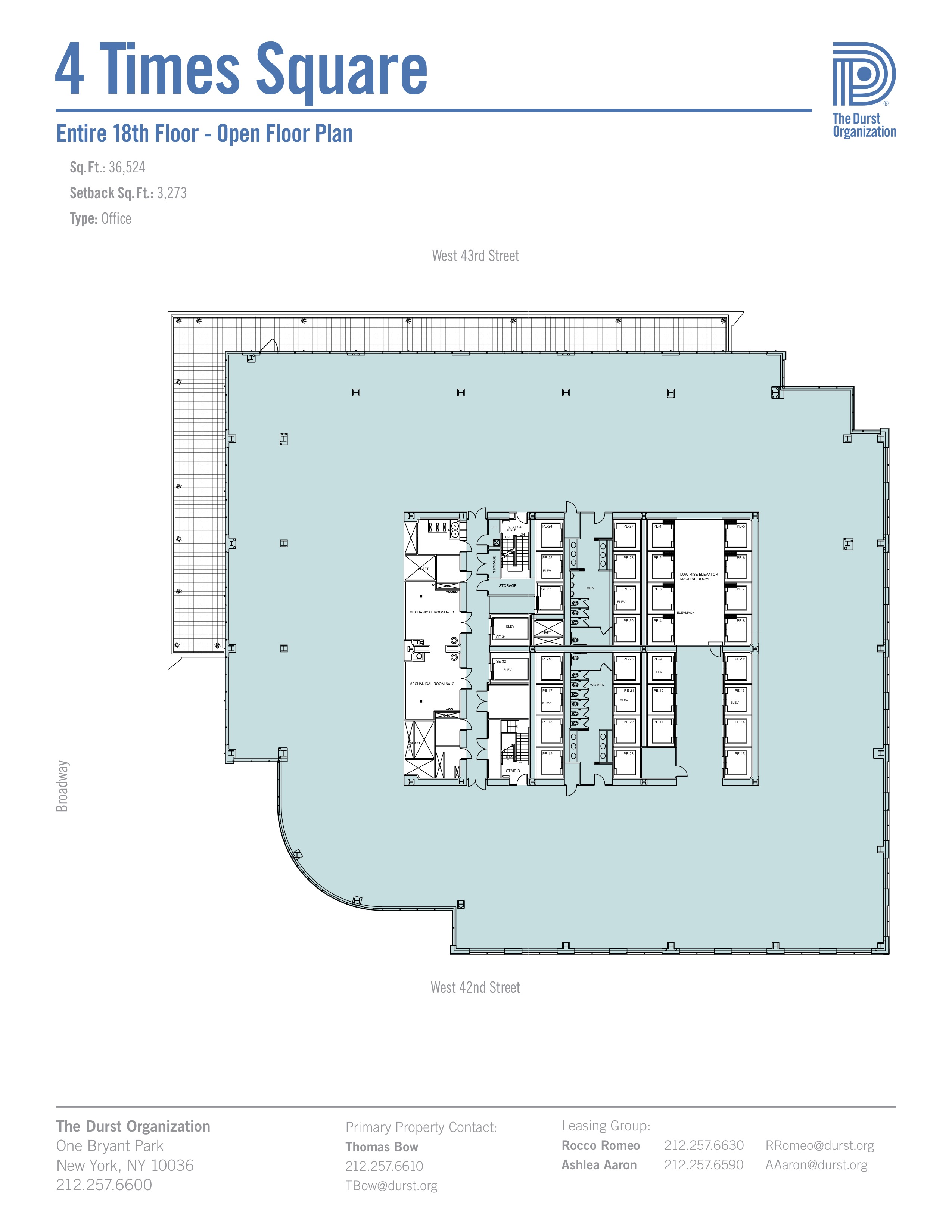 4 times square conde nast building floorplans new york city for Country plans com