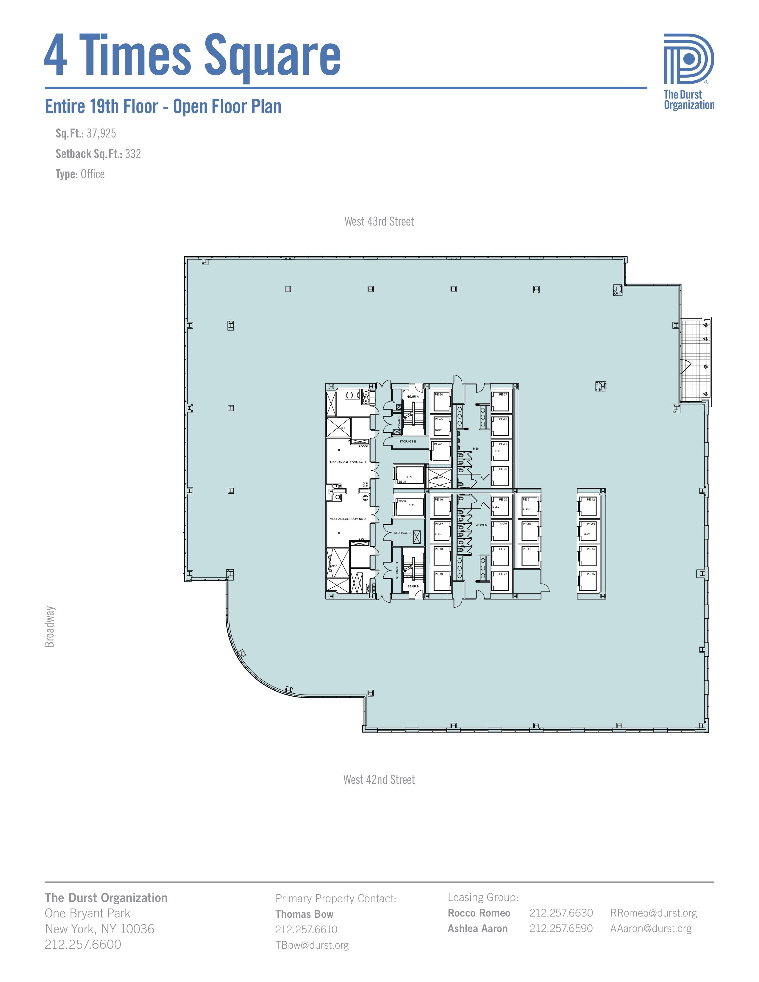 New York Times Building Floor Plans