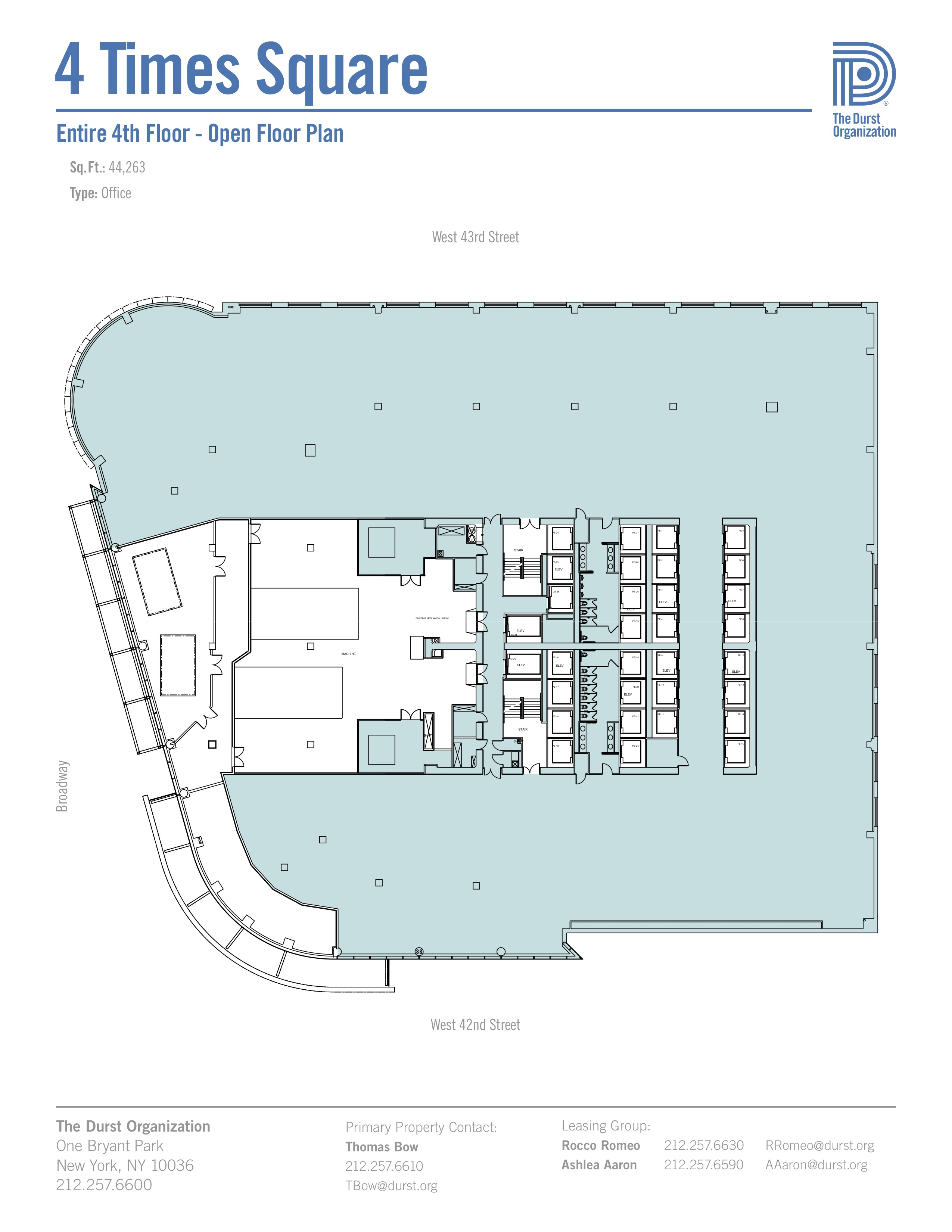 4 times square conde nast building floorplans new york city for New construction floor plans