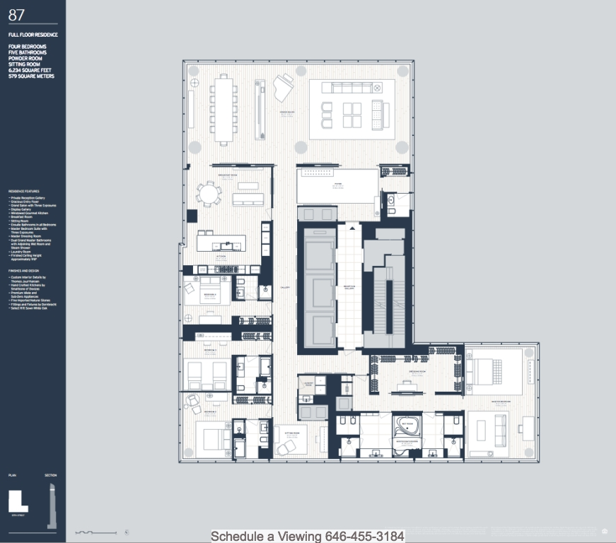 One 57 New York Floor Plans