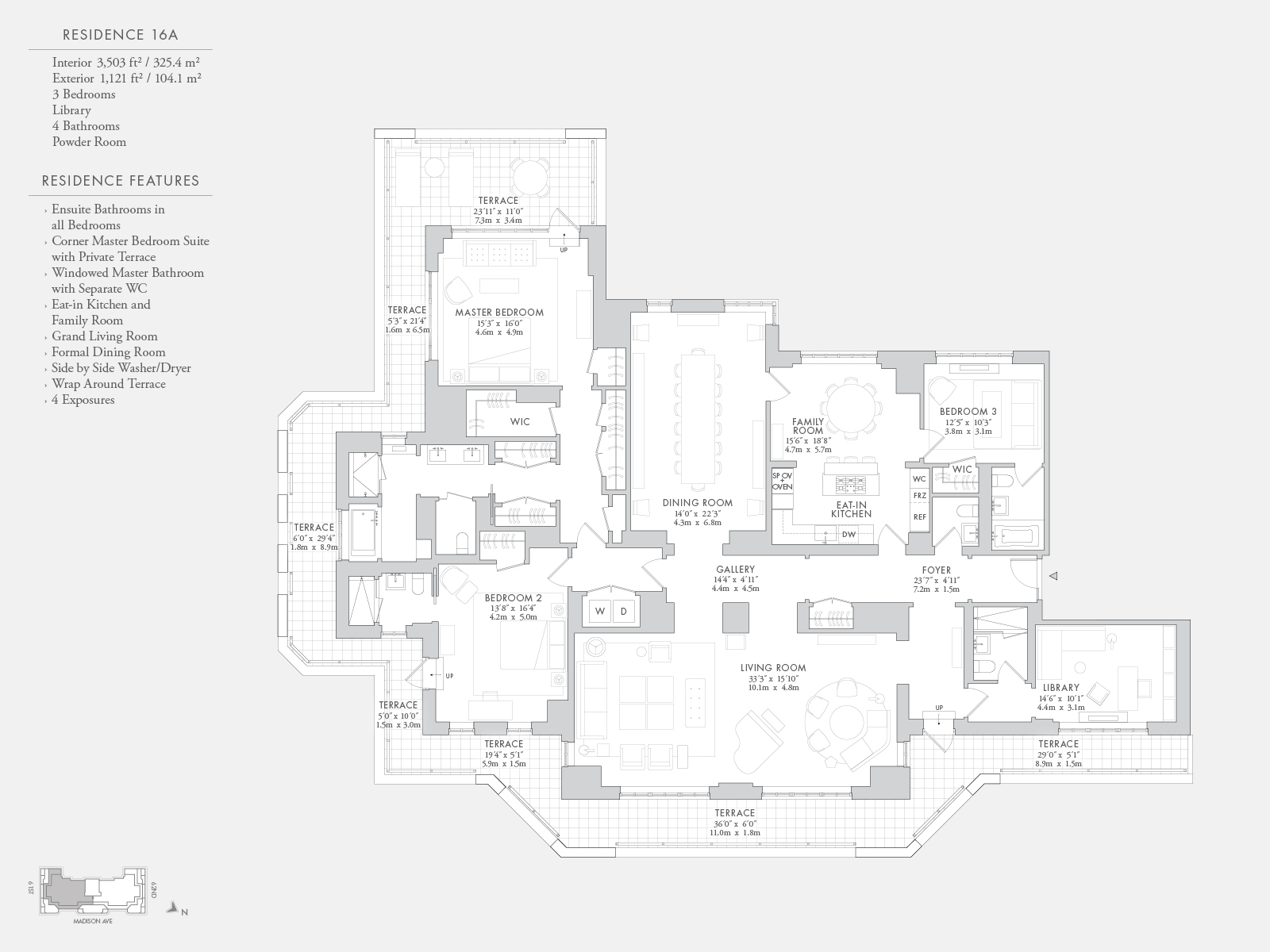 The carlton house floorplans new york city for New york house plans