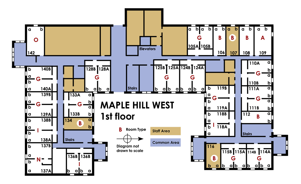Maple hill west floor plans university of arkansas for Floor plans lafayette college