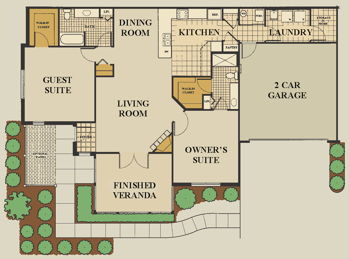 Greenfield indiana floor plan type abbey for House plans with large laundry room