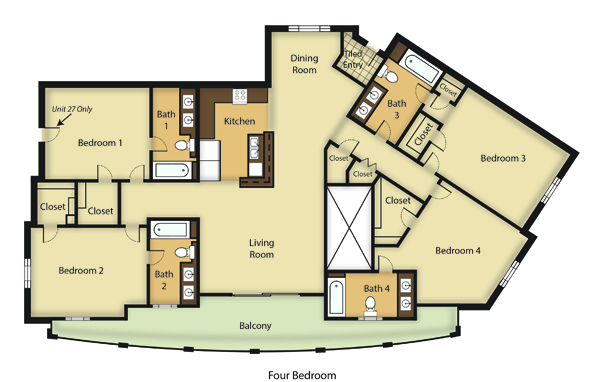 3d 3 bedroom floor plans joy studio design gallery best design for Los angeles 3 bedroom apartments