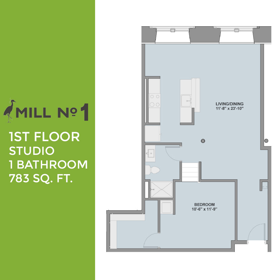 Mill no 1 floor plans 3000 falls road baltimore maryland - Planning the studio apartment floor plans ...