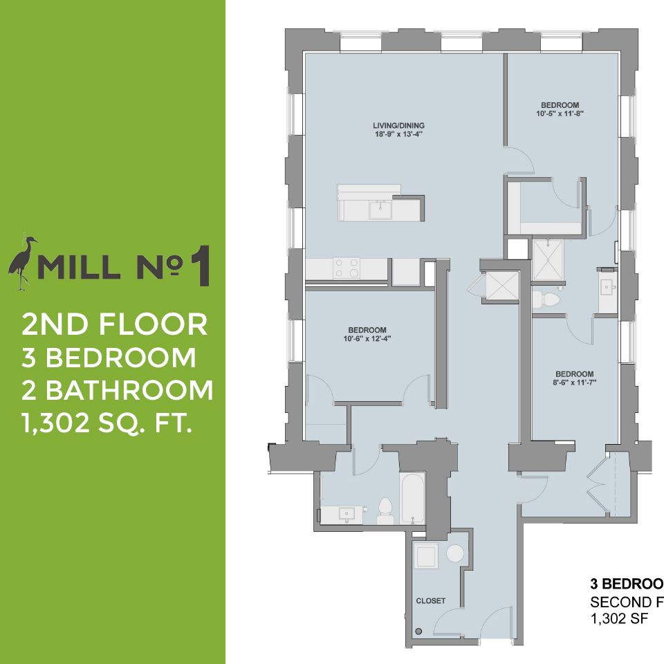One Bedroom Apartments In Maryland Mill No 1 Floor Plans 3000 Falls Road Baltimore Maryland
